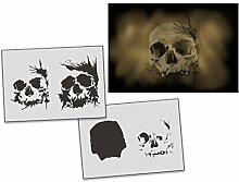 UMR-Design AS-312 Skull Airbrushschablone Step by Step Grösse L
