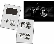 UMR-Design AS-316 Camera Airbrushschablone Step by Step Grösse M