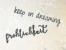 UMR-Design ST-023 keep on dreaming SET Stempel Stamp Grösse L 4cm x 12cm