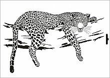 UMR-Design W-001 Leopard Wand / Textilschablone Grösse A3