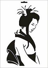 UMR-Design W-099 Geisha Wand / Textilschablone Grösse A3