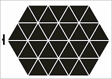 UMR-Design W-193 Triangles Wand / Textilschablone Grösse A3