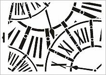 UMR-Design W-444 Clocks Wand / Textilschablone Grösse A3