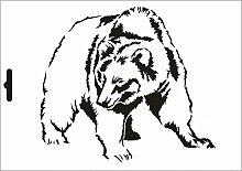 UMR-Design W-634 Bear Wand / Textilschablone Grösse A3
