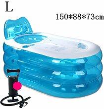 Umwelt- und stilvolle aufblasbare Badewanne Aufblasbare Badewanne verdicken Erwachsene Badewanne Faltbare Kind baden Badewanne Kunststoff Badewanne Geschenk Four Seasons rosa blau kreativ niedlich YANGFF- Aufblasbare Pools ( Farbe : #11 )