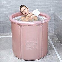 Umwelt- und stilvolle aufblasbare Badewanne Badewanne Eindickung Erwachsene Badewanne Faltbare Stent Kind nehmen Sie ein Bad Badewanne Kunststoff Bad Fässer Geschenk Four Seasons Goldrosa YANGFF- Aufblasbare Pools ( Farbe : Pink , größe : S )