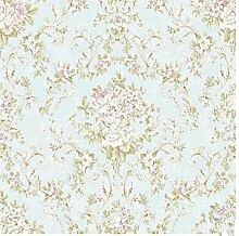 Umweltfreundliche Non-Woven Stoffe Tapeten pastoralen Stil Tapete im Wohnzimmer an der Wand 0,53 m * 10 m, 014
