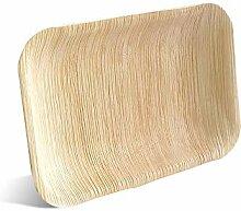Umweltfreundliche Palmblatt-Teller, die perfekte