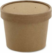 Umweltfreundliche Suppenschalen aus Kraftpapier,