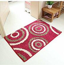 Umweltschutz Mode Anti-Rutsch-Rechteck Kreative Wasserabsorption Hall Badezimmer Schlafzimmer Küche Teppich ( Farbe : D , größe : 60*90cm )