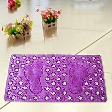 Umweltschutz PVC-Bad-Matte Badezimmer Fußmatte Anti-Rutsch-Matte Badematten Fußauflage (Farbe : 4)