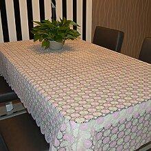 UmweltschutzPVCTischdecken/Fashion bukolischen Tischdecke/wasserdichte Tapete-C 136x180cm(54x71inch)