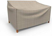 umwirft English Garden Kleine Outdoor Sofa Abdeckung für Love Seat/bench p3a01pm1, Tan Tweed (31H x 74W x 31D)