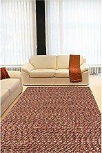 un Amour von Teppich 13796Monza 1Teppich Moderne wolle rot, Wolle, rot, 140 x 200 cm