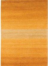 un Amour von Teppich 13812Baku Stripe Teppich Moderne wolle Gold/Gelb, Wolle, gelb, 200 x 300 cm