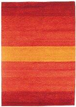 un Amour von Teppich 13836Baku Stripe Teppich Moderne wolle rot, Wolle, rot, 250 x 300 cm