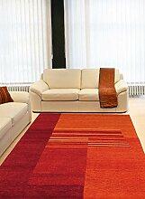 un Amour von Teppich 13934Baku Modern Teppich Moderne wolle rot, rot, 140 x 200 cm