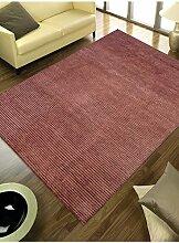 un Amour von Teppich 14013Himalaya Teppich Moderne wolle Schokolade/Braun, Wolle, braun, 200 x 300 cm