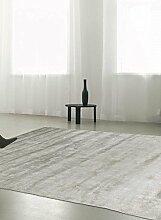 un Amour von Teppich 20071Look 430Uni Teppich natur für Wohnzimmer moderne Seide grau, grau, 170 x 240 cm