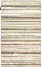 un Amour von Teppich 20088Look 401Teppich Moderne ungefärbt Wolle Beige, Wolle, beige, 140 x 200 cm