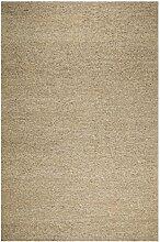 un Amour von Teppich 24328Look 406Teppich Moderne ungefärbt Wolle grau, Wolle, grau, 140 x 200 cm