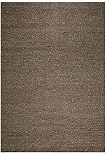 un Amour von Teppich 24335Look 406Teppich Moderne ungefärbt Wolle Kohle/Schwarz, Wolle, schwarz, 250 x 350 cm