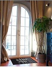 un Amour von Teppich 36398Welcome Home Fußmatte Staubschutz Polyamid Schwarz 45x 75cm