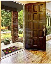 un Amour von Teppich 36414Raute Fußmatte Gummi 45x 75cm, rot, 45 x 75 cm