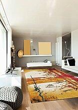 un Amour von Teppich 36537Soleil Teppich Moderne für Wohnzimmer Polypropylen mehrfarbig 80x 150cm