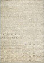 un Amour von Teppich Fensterschloss Look 4292Uni Teppich modern für Esszimmer Wolle hellgrau, grau, 170 x 240 cm