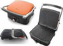 Unbekannt–Kontakt Grill Sandwich Toaster Edelstahl Tisch für Grill elektrisch 1500W