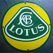 Unbekannt–Platte, emailliert Lotus rund Auto Kabelrinnen Email Deco Garage