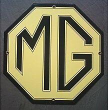 Unbekannt–Platte, emailliert MG Auto Englische Kabelrinnen Email Deco Garage