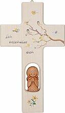 Unbekannt 1 Holzkreuz mit Tonengel N516, Ich