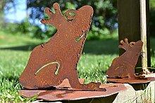 Unbekannt 2 Stück Frosch auf Seerosenblatt Metall