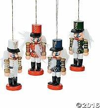 Unbekannt 24Holz Nussknacker Ornament Set Lot