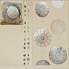 Unbekannt 2er Set Capiz-Girlande Hängedeko 180 cm