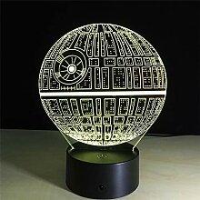 Unbekannt 3D Nachtlicht 3D Death Star Night Lights