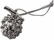 Unbekannt 4 Zapfen Christbaumschmuck Silber