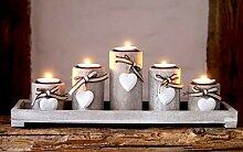 Unbekannt 5er Set Kerzentablett Kerzenschale