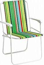 Unbekannt Alco Sessel Fixed gepolstert 1,5cm–Stahl lackiert weiß