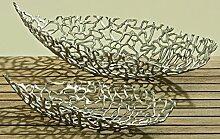 Unbekannt Aluminium Deko-Schale - Silber - Schale