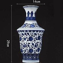 Unbekannt Antik Blaue Und Weiße Porzellan Vase
