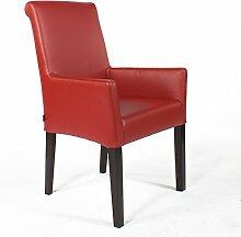 Unbekannt Armlehnstuhl Galdo Leder Rot Beine Wenge | Ledersessel Lederstuhl Sessel