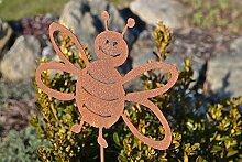 Unbekannt Biene auf Stab Rost Edelrost Deko