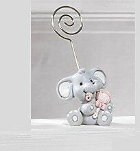 Unbekannt Bonboniere Taufe Clip Fotohalter Elefant