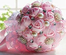 Unbekannt Brautstrauß Geschenke Hochzeit Zubehör (Color : Rosa)