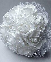 Unbekannt Brautstrauß künstlich D22cm Hochzeit