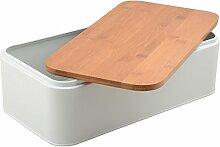 Unbekannt Brotbox mit Bambus-Deckel Brotkasten