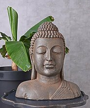 Unbekannt Buddha Skulptur XXL Kopf Büste Asien Gartenfigur Feng Shui Balkonfigur Palazzo Exklusiv